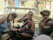 Inga, Simon und Rike auf der Trastevere