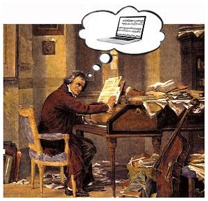 Beethoven tr�umt vom Computer